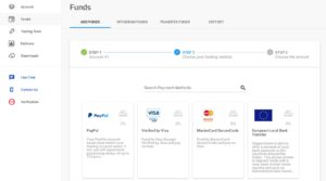 Pepperstone offers a variety of payment methods for funding your account