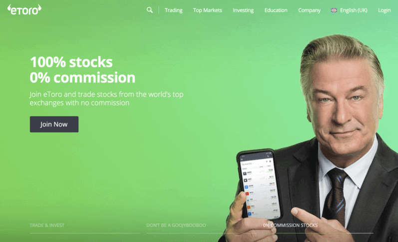 Commission-free stocks at eToro