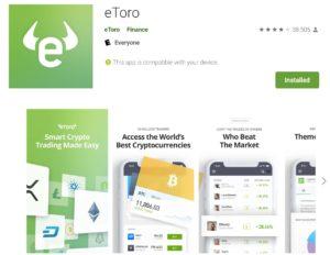 eToro on the Google Play Store