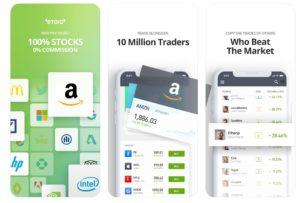 eToro mobile app on the Apple App Store