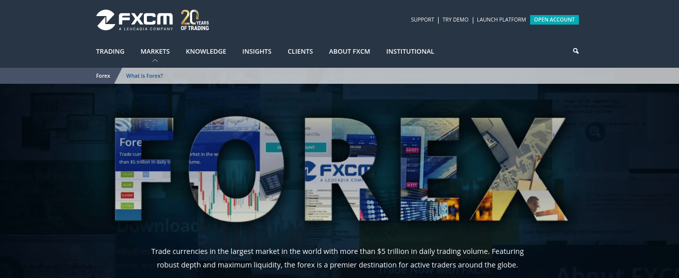 FXCM ZAR Account