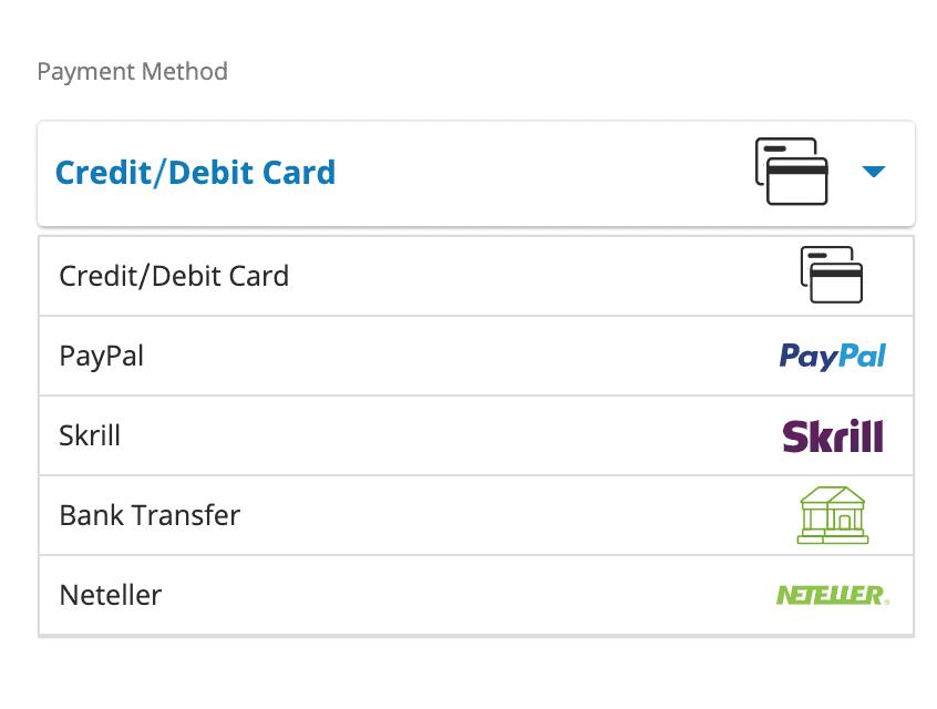 eToro payment methods