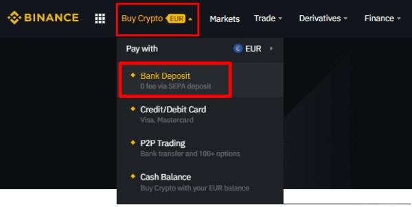 Binance deposit funds